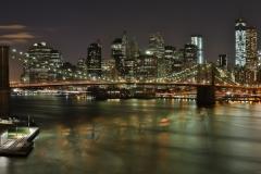 Brooklyn Bridge Night Pan